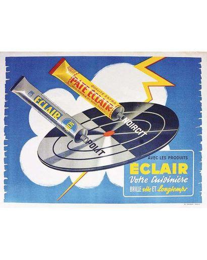 Pate Eclair Noircit, polit, avec kles produits Ecclair votre cuisinière brille vite & Longtemps Liem vers 1930 Lille (Nord)