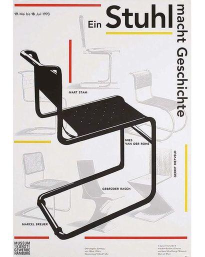 OTT NICOLAUS + STEIN BERNARD Affiche entoilée/ Vintage Poster on Linnen T.B.E. A...