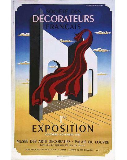 PICART LE DOUX Jean Mourlot Paris   Affiche entoilée/ Vintage Poster on Linnen T.B.E....