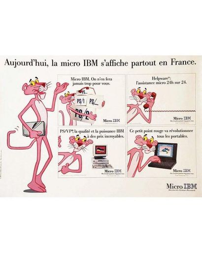 IBM - Aujourd'hui la Micro IBM PS1 PS 2 s'affiche partout en France (Pink Panther)...