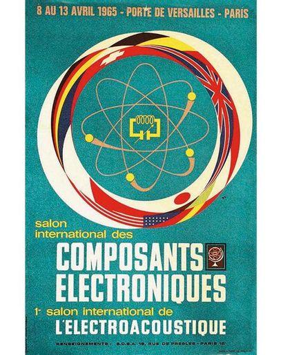 RC Publi - Service  1 Affiche Non-Entoilée / Vintage Poster not lined T.B.E. A -...