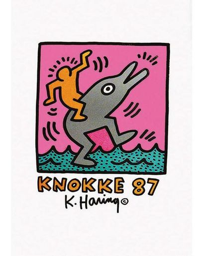 HARING Keith 1 Affiche Non-Entoilée / Vintage Poster not lined T.B.E. A +  70 x 50...