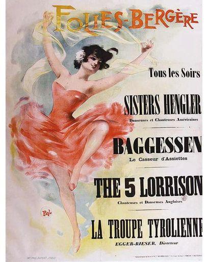 PAL Paul Dupont Paris   Affiche entoilée/ Vintage Poster on Linnen B.E. B +  120...