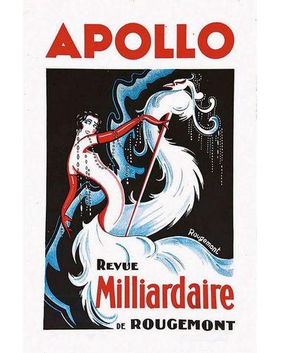 ROUGEMONT Affiche entoilée/ Vintage Poster on Linnen T.B.E. A -  59 x 39.5 cm