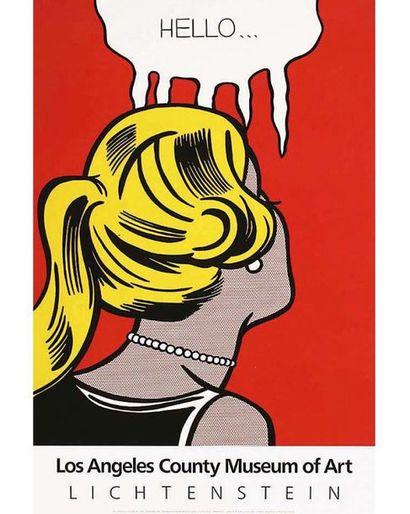 LICHTENSTEIN Roy Affiche entoilée/ Vintage Poster on Linnen T.B.E. A +  98 x 65 ...