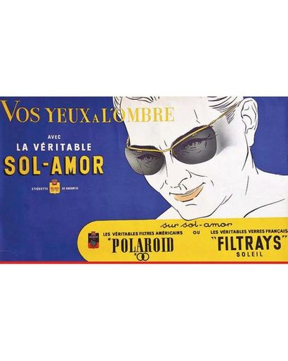 Polaroid Sol Amor Vos Yeux à l'ombre  Homme vers 1950