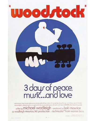 Woodstock 3 Days of Peace Music …Love Rare Original posters US 1970 Woodstock est...