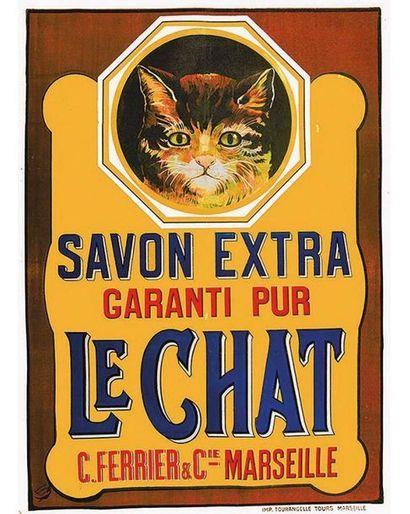 Le Chat C. Ferrier & Cie Savon Extra Le Chat vers 1920 Marseille (Bouches du Rhône)