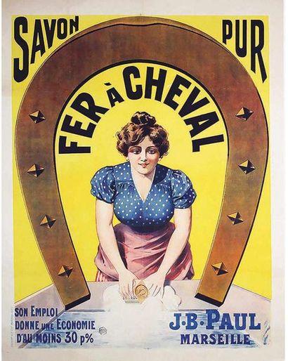 Savon Du Fer A Cheval Savon Pur vers 1910 Marseille (Bouches du Rhône)