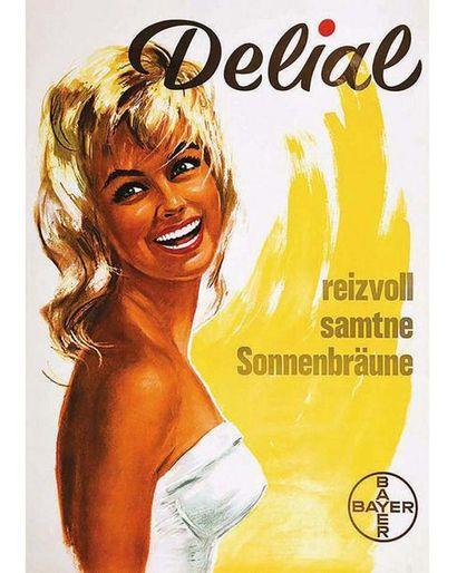 Delial Reizvoll Samtne Sonnenbraune Bayer ( Crème solaire ) 1962