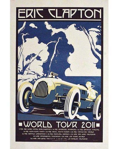 Eric Clapton World Tour 2011 affiche signée 2011