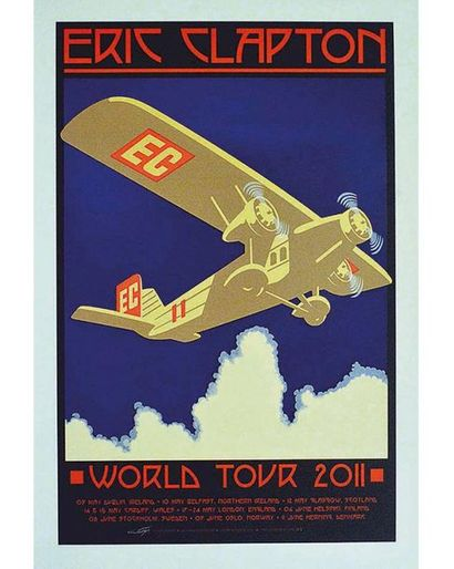 Eric Clapton World Tour Affiche signée & N 13/300 2011