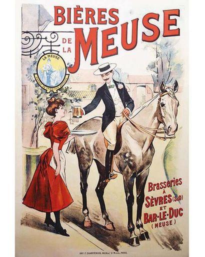 Bières de La Meuse Brasseries à Sèvres vers 1900 Sèvres ( Hauts de Seine )