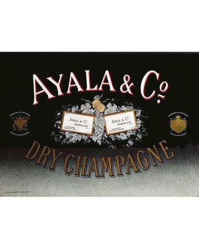 Ayala & Cie Champagne Fournisseurs de la Cour Royale de SM le Roi D'Angleterre vers 1930 Ay (Marne)
