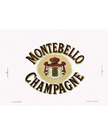 Champagne Montebello vers 1900 Reims (Marne)