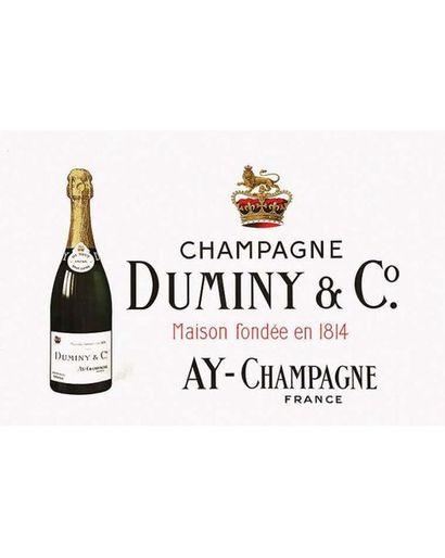 Champagne Duminy & Co Maison Fondée en 1814 vers 1900 Ay (Marne)