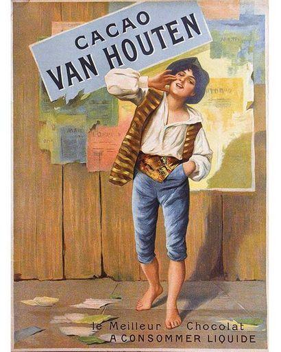 Cacao Van Houten Le Meilleur Chocolat à Consommer Liquide vers 1900