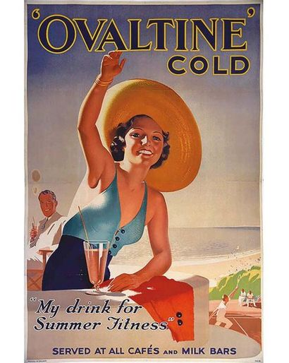 Ovaltine Gold My Drink for Summer Fitness vers 1925
