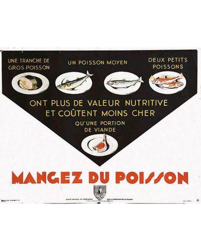Mangez du Poisson coût moins cher qu'un portion de viande vers 1930