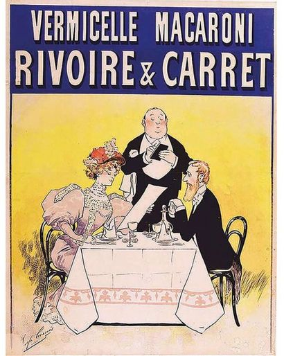 Rivoire & Carret Vermicelle Macaroni vers 1900 Lyon (Rhône)