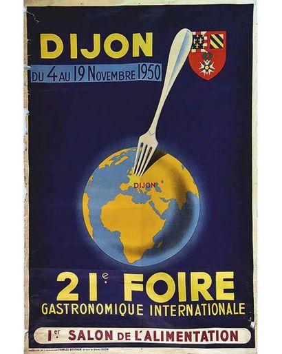 Dijon  Gastronomie 21 ème Foire 1950 Dijon (Côte-d'Or)