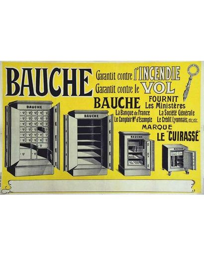 Bauche contre Incendie & vol Fournit les Banques : Sté Générale, Crédit Lyonnais, Banque de France vers 1900