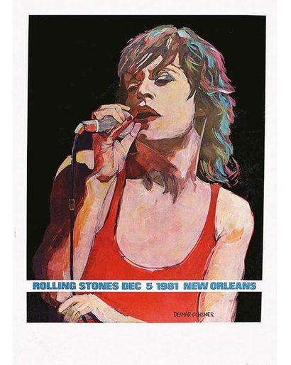 DELMAR OCHNER Affiche entoilée/ Vintage Poster on Linnen T.B.E. A -  96,5 x 61,5...