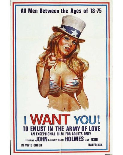 I Want You !To Enlist in The Army Of Love All Men between the age 18 - 75 1970