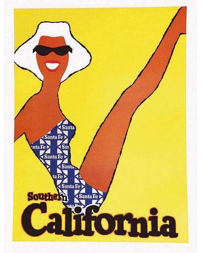 Southern California Santa Fee vers 1950