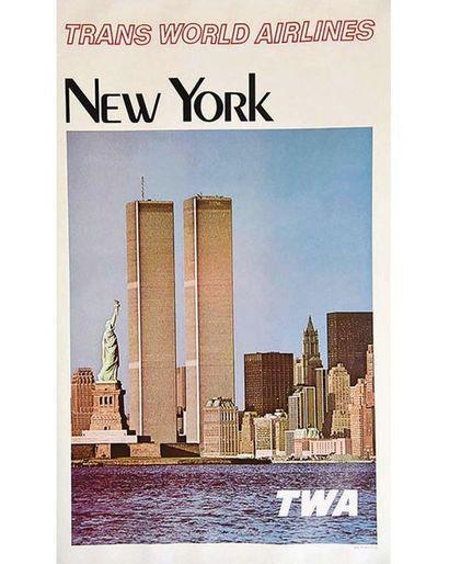 New York Twin Towers TWA vers 1970