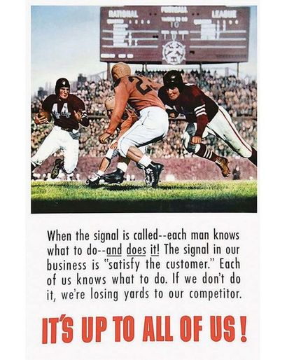 American Football It's Up To All Of Us ! 1947
