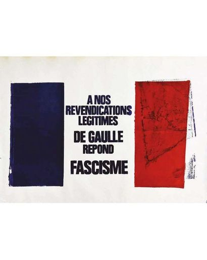 A nos revendications légitimes De Gaulle répond Fascisme Mai 68 1968