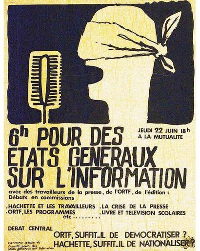6 H Pour Des Etats Généraux Sur L'information 22 Juin Mutualité Mai 68 1968