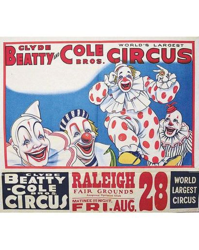 Clyde Beatty & Cole Bros World Largest Circus vers 1945