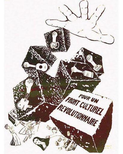 Pour un Front Culturel Revolutionnaire ( Marron ) Mai 68 1968