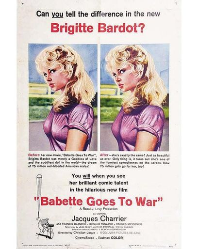 Babette s'en va t en Guerre - Babette Goes to War - Can you tell the difference in the new Bardot 1960