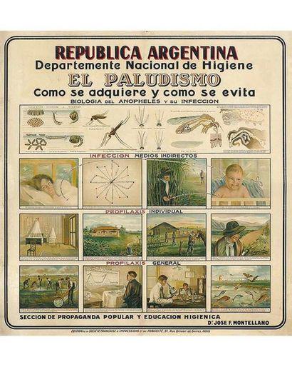 El Paludismo Como Se Adquiere y Como se Evita  Rep. Argentina Dr Jose F. Montellano 1910