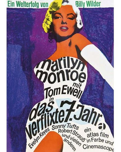 Marilyn Monroe mit Tom Eweil  in das Verflixte 7. jahr 1966