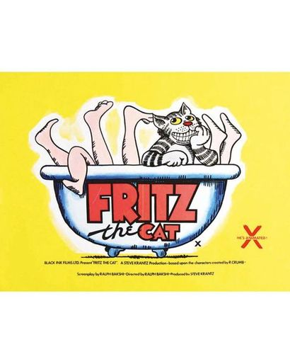 Fritz the Cat He 's X Animated Affiche Anglaise 1972