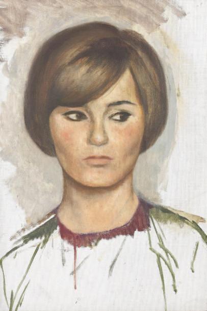 CUVELIER Portrait Huile sur toile pour ce beau portrait de femme. 32x46 cm.