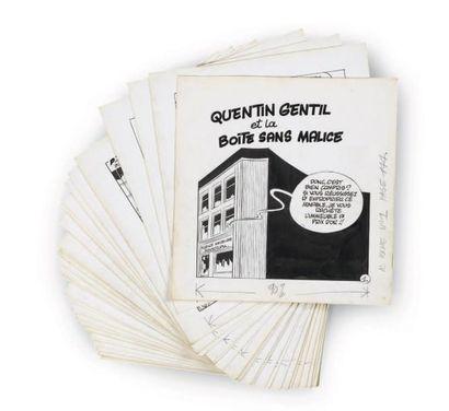 GREG Quentin Gentil et la boîte sans malice Ensemble de 30 planches à l'encre de...