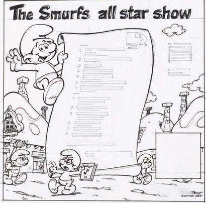 PEYO Les Schtroumpfs - The Smurfs All Star Show Encre de chine pour ce projet de...