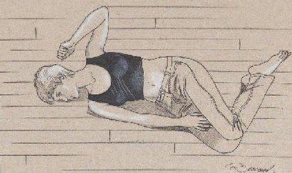 RENAUD Jessica Blandy Encre de Chine, feutre et crayon blanc pour ce joli portrait...