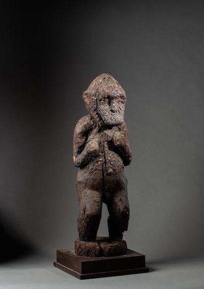 Beau et très ancien singe mendiant « Gbekré...