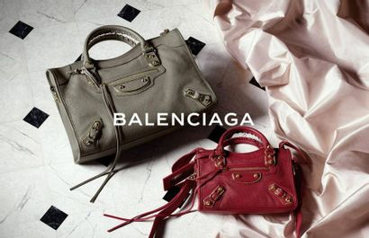 "BALENCIAGA Sac ""Giant 21 Part Time"" - ""Giant 21 Part Time"" bag Black aged leather..."