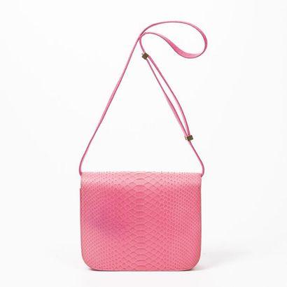 """CELINE par Phoebe Philo Sac """"Classic Box"""" - """"Classic Box"""" bag Fluorescent Python..."""