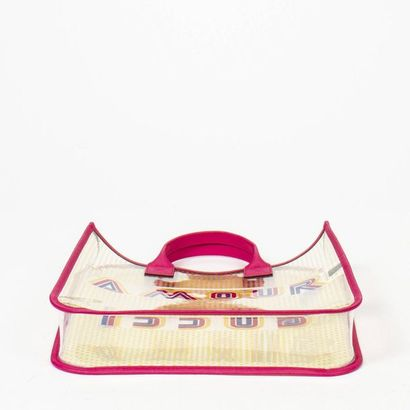 GUCCI KIDS - Circa 2020 Cabas - Tote Clear vinyl, raspberry coated canvas  33 x 31...
