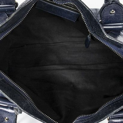 "BALENCIAGA Sac ""Giant 21 City"" - ""Giant 21 City"" bag Dark blue aged leather  Silver..."