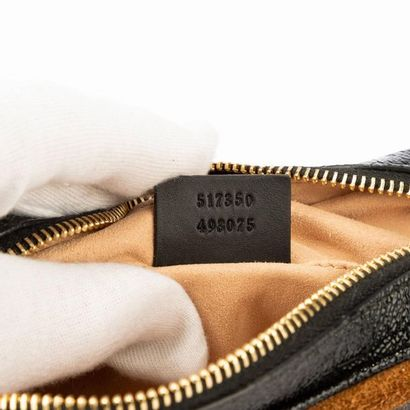 "GUCCI Sac ""Ophidia GG"" min - i""Ophidia GG"" mini bag Hazelnut suede, black patent..."