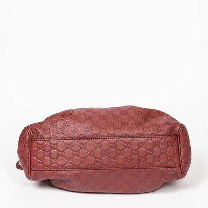 "GUCCI Sac ""Sukey"" PM - ""Sukey"" PM bag Leather ""Guccissima"" dark red  Gold metal trim..."
